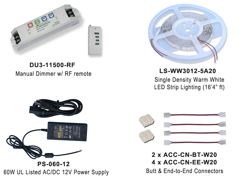 RGB LED Lighting Kit EUKT06-CWWW30