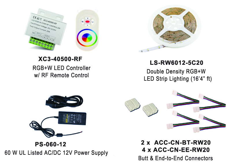 RGB LED Lighting Kit EUKT05-RGBWW60